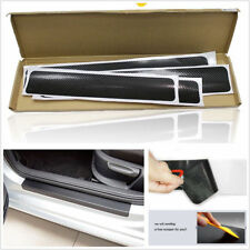 4 Pcs 4D Carbon Fiber Car Accessories Door Sill Scuff Protector Stickers & Tool