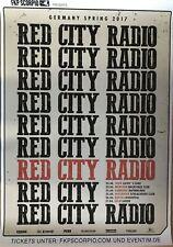 RED CITY RADIO  2017  TOUR  - orig.Concert Poster -- Konzert Plakat  A1 NEU