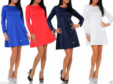 Cocktail No Pattern Long Sleeve Dresses Plus Size for Women