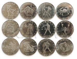 SOMALILAND 12 COINS SET 2012 ZODIACS UNC (#581)
