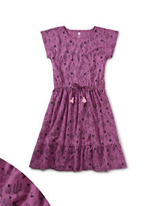 Tea Collection Girl Magenta Desert Cactus Tie Waist Midi Dress Size 10 or 12 $50