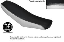 BLACK AND WHITE VINYL CUSTOM FITS HONDA XR 100 01-03 DUAL SEAT COVER ONLY