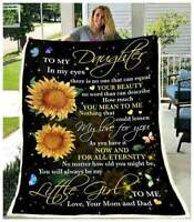 Daughter (Mom & Dad) You Will Always Be My Little Girl Sofa Fleece Blanket 50-80