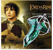Lord of the Rings Frodo & Legolas Green leaf Elven Pin Brooch (NEW)