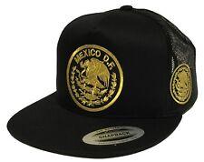 MEXICO DF. 2 LOGOS AGUILA 2'' A LADA LOGO FEDERAL HAT BLACK