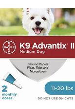 Bayer K9 Advantix Ii Flea Treatment Medium Dog11-20 lbs 2 Doses (Box Vary)
