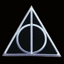 HARRY POTTER DEATHLY HALLOWS LOGO IRON ON  PATCH BY MILTACUSA