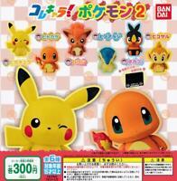 Bandai Kore characters Pokemon 2 Gashapon complete 6 set mini figure capsule