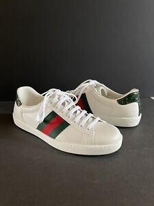 GUCCI Men's Ace Leather Sneaker Size 8 1/2