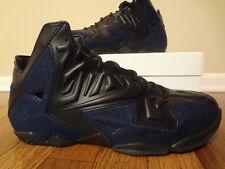 Nike LEBRON XI DENIM Size 11 Black Black Denim 659509 004 Lebron James NIB DS