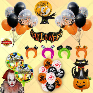 Happy Halloween Foil Balloons Skull Pumpkin Wizard  Monster Scary Party  Baloon