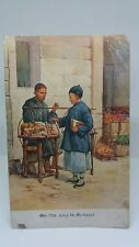 More details for old antique postcard chinese boy on the way to school e s hardy street scene