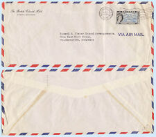 Bahamas 1958 Airmail Cover British Colonial Hotel Nassau to Delaware Solo #165