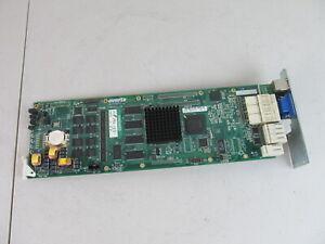 Evertz 7700FC VistaLink Frame Controller Card w/ 7700CM-1 Back Plate
