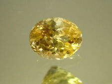 NATURAL CEYLON YELLOW SAPPHIRE OVAL CUT GEMSTONE UNHEATED WITH CERTIFICATE 2.67