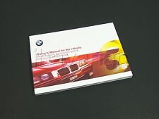 Genuine BMW Owners Manual E36 3 Series 09/1997 - 09/1998