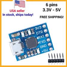6 Pin USB 2.0 to TTL UART Module Serial Converter Module STC 5V/3.3V - micro USB