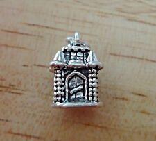 Sterling Silver 3D 15x10mm Princess Castle Charm! Cute!!
