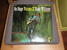 Hank Williams LP On Stage Volume II Stereo MGM Drifting Cowboys Country Vinyl