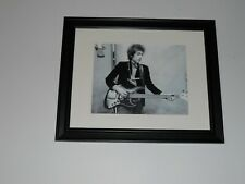 "Framed Bob Dylan with Bass Guitar 1964 in Studio, Beautiful! 14"" by 17"""
