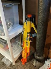 Nerf Stampede ECS N-Strike Automatic Blaster Dart Gun w 6 extra clips and extra