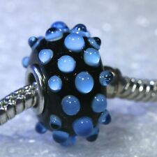 "SINGLE CORE EUROPEAN STYLE GLASS BEADS-""Turquoise Glass Bubbles"""