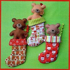 Beary Christmas - Sewing Craft A5 Creative Card PATTERN - Stocking Bear