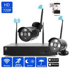 Wireless 4CH 1080P NVR 2Pcs Outdoor IR-CUT WIFI CCTV Camera Home Security System