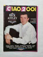 CIAO 2001 N. 12 - 1988 + POSTER LUCA BARBAROSSA RICK ASTLEY STING RAMAZZOTTI