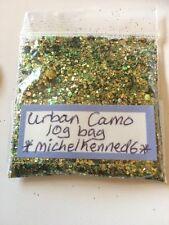 "Chunky Shiny Metallic Holographic Nail Art Glitter Mix  - ""URBAN CAMO"" 10g Bag"