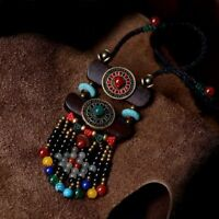 Chain Women Gift Sweater Wooden Necklace Tibetan Turquoise Jewelry Ethnic