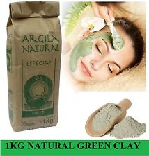 Organic French Green Clay  Powder Face Mask! 1Kg 2.2LB THE CHEAPEST ON EBAY!!