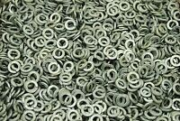 (500) Galvanized 3/8 Split Lock Washers