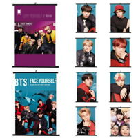 Lot of & Kpop Bangtan Boys Hanging Painting Art Painting Wall Scroll Poster