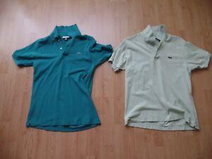 Set 2 Lacoste Poloshirts Herren Gr. 4 Gr. M Classic Fit mintgrün und petrol grün