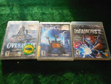 PS3 OVERLORD / Infamous / Walle 3 games Play station III 3 Lot