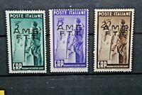 "FRANCOBOLLI ITALIA TRIESTE A 1949 ""E.R.P."" AMG - FTT MH* SET (CAT.A)"