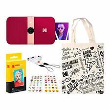 KODAK Smile Instant Print Digital Camera (Red) Travel Kit