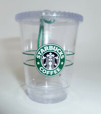 Starbucks Ornament Christmas Holiday Clear Cold Cup 2009