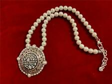Brighton Crystal Voyage Pin Necklace Swarovski Crystals pearls chain New