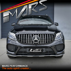 AMG GT Style Chrome Black Bumper Grille for Mercedes-Benz GLE-Class W166 Hatch