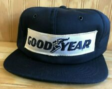 Vintage Goodyear Tires Trucker Hat Navy 70's Formula 1 Race Cap Rare Made in USA