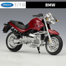 WELLY 1:18 Scale Diecast Model BMW R1150 R Motorcycle Models Red Toy for Display
