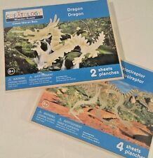 Creatology wooden Velociraptor and Dragon  puzzles