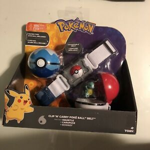 Pokemon Clip n Carry Poke Ball Adjustable Belt Squirtle Water Type Dive Ball