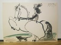 "Pablo Picasso ""Woman Horse Rider"" Original Lithograph Art 1959 Equestrian Female"