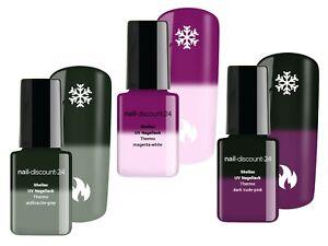 Thermo UV Shellac Spar SET Base Top Coat LED Farb Polish Nail Art Nagellack Gel