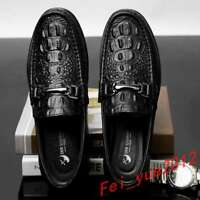 Mens Loafers Slip On Spring Flats Heels Driving Moccasins Gommino Comfy Shoes