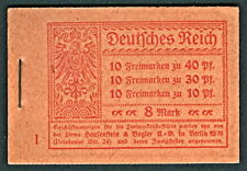 GERMANY  1921, Complete Booklet (Michel MH14), XF