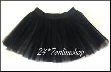 Job Lot Brand New 10 Black 4 Layers Tutu Skirts Halloween Fancy Dress Costume